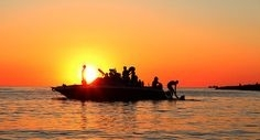 Sunset Speed Boat